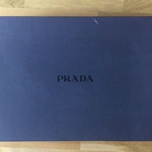 Prada knee high suede boots